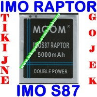 Baterai Imo Raptor S87 Mcom M Com Batrai Batre Battery Batere