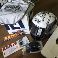 SALE!! Helm Shoei X14 Marques TC6 white Eurofit size XL original Japan
