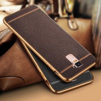 CASING HP TPU LEATHER METAL BUMPER CASE SAMSUNG GALAXY OPPO R7+ / R7 P