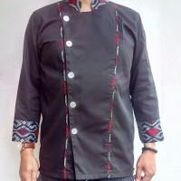 Harga baju chef kombinasi batik hi q untuk chef pria model | antitipu.com