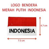 Logo Emblem Bet Bordiran Bendera Merah Putih Tulisan INDONESIA