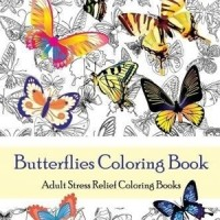Butterflies Coloring Book Adult Books
