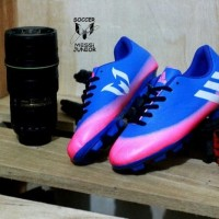 FREE BONUS!!  Sepatu Football Adidas Messi Jr. Kids - Blue Pink