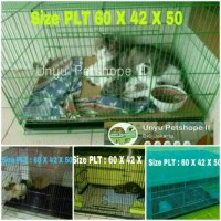 Jual Kandang lipat besi Kucing Kelinci Burung Hamster Sugar glider size L Murah