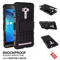 CASING HP ASUS ZENFONE 2 SELFIE RUGG ANTI SHOCK ARMOR HARD SOFT