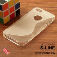 CASING HP APPLE IPHONE 5 5S SOFT JELLY SILIKON TPU SOFT