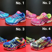 Sepatu Voli Cewek Asics Gel Kayano 21 / Sport Volley Badminton Murah