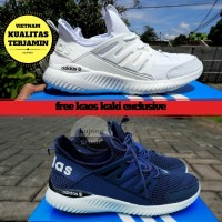 BRANDED SEPATU FULL WHITE ADIDAS ALPHABOUNCE CASUAL SNEAKERS