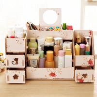 Rak Kosmetik Size XL | Tempat Make Up | Cermin Rias | Almari | Kotak