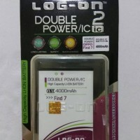 Batre Dobel Power Oppo Find 7/7a/blt569 Baterai Log On Double Power/ic