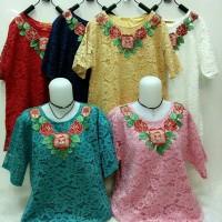 harga Atasan Jumbo Baju Import Blouse Murah Wanita (gfff) Bhn Brokat Tokopedia.com