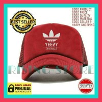 Topi jaring Adidas yeezy logo-tisha store
