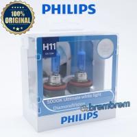 Lampu PHILIPS DIAMOND VISION H11 5000K - Warna Putih - Orignal