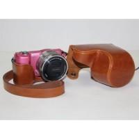 Jual Leather Case For Sony Alpha A5000/A5100 - Cokelat Murah