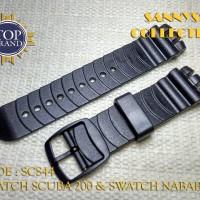 STRAP TALI JAM SWATCH SCUBA 200 - NABAB RUBBER HITAM PREMIUM