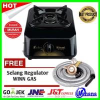 Paket Kompor Rinnai RI-301S Kompor Gas 1 Tungku +Selang Regulator Winn