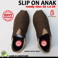 harga Sepatu Slip On Anak - Army Coklat. Slip On Anak. Sepatu Anak Tokopedia.com