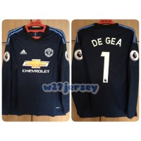 harga Jersey Mu Gk Navy Longsleeve 2017/2018 Name Player De Gea + Patch Epl Tokopedia.com
