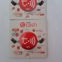 Tcash Tap / TCash telkomsel / pembayaran TCash / stiker telkomsel