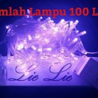 Jual lampu natal led twinkle lurus tumblr hias warna ungu Murah