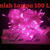 Jual lampu natal led twinkle lurus tumblr hias warna pink Murah