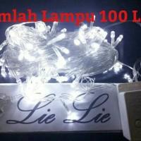 Jual lampu natal led twinkle lurus tumblr hias warna putih Murah