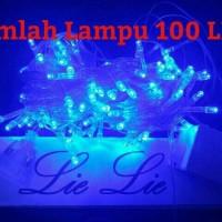 Jual lampu natal led twinkle lurus tumblr hias  warna biru Murah