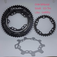 Chainring Oval DOVAL 5G Nano 50 34 Low Ovality BCD110mm