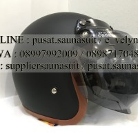 Helm Bogo Retro Black Doff GIX