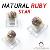 CINCIN NATURAL RUBY STAR - SUPER KLEP - GARANSI NATURAL