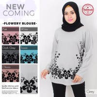 Kaos Muslim/Baju Muslim/Pakaian Muslim Wanita Model Flowery Blouse