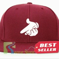 Topi Snapback Crooks & Castles Mickey Mouse Hands - Reove Store