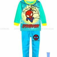 Harga pakaian anak laki laki baju setelan kaos piyama spiderman jw | antitipu.com