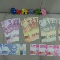 Uang Mainan Anak 21 Lembar Game Monopoli Souvenir Mahar 10 GRATIS 1