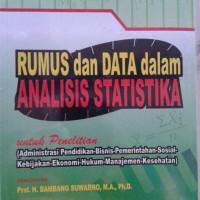 Rumus dan data dalam analisis statistika Dr.Riduwan, M.B.A
