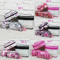Tas Wanita V. Secret Train Case Cosmetic Import / 6257 (4 in 1)