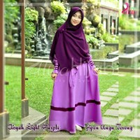 kerudung Segi empat Polos -Jilbab Pon (Jipon) warna ungu terong