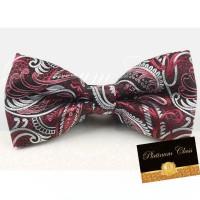 Jual dasi kupu import ukuran dewasa batik merah platinum class Murah