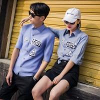 Jual Flyer Denim / baju kemeja ccouple / baju couple / kemeja pasangan  Murah
