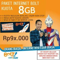 INJECT/ISI ULANG PAKET DATA BOLT 4G LTE KUOTA 8GB