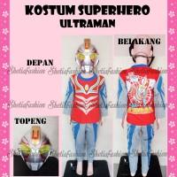 harga Kostum Superhero Baju Topeng Karakter Anak Ultraman Grosir 3pc 1-2-3th Tokopedia.com