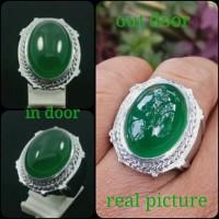 Cincin batu akik green chalsedony like ijo garut super grade A