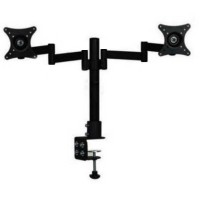 Table Mount Dual Arm TV Bracket 100 x 100 Pitch for 15-27 Inch TV