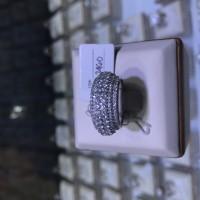 cincin berlian eropa model listring full diamond emas putih grosir