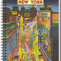 Notebook Double Wire A5 Vintage New York Time Square - HC
