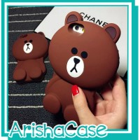 Case 4D BROWN VIVO V5 LITE /NEW/Karakter/Softcase/Soft/Silikon/Line/3D