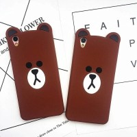Softcase 3D Motif Line Bear Brown Ultra Thin Slim Fit Oppo Neo 7 A1603