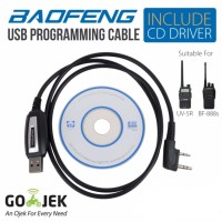 Baofeng Handie Talkie USB Programming Cable / Kabel Data + CD Driver