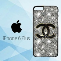 Casing Hardcase HP iPhone 6 Plus Chanel Glitter X4437