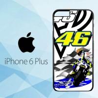 Casing Hardcase HP iPhone 6 Plus Valentino Rossi Poster X4993